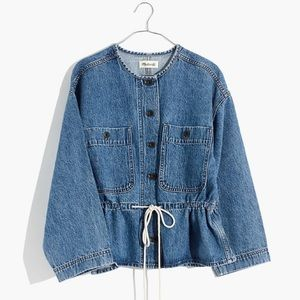Madewell Denim Claremont Drawstring Jacket
